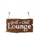 Großhandel Grills & Zubehör: Metall Tafel   Grill+Chill  Lounge , L45B23cm, ...